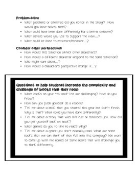 Reading Questions that Support Higher Order Thinking