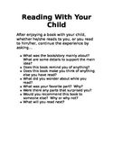 Reading Questions to Ask at Home