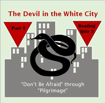 Reading Quiz 3 for The Devil in the White City by Erik Larson