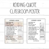 Reading Quote / Book Poem Poster / Farmhouse / Shiplap Decor