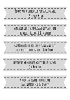 Reading Quote Bookmarks