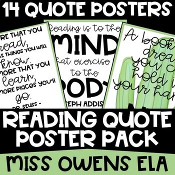 Reading Quote Poster Pack