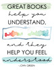 Reading Quote Poster Set: Watercolor Design