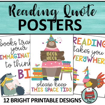 Reading Quote Posters