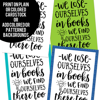 Reading Quote Posters in Black and White