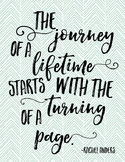 "Reading Quote - ""The journey of a lifetime..."""