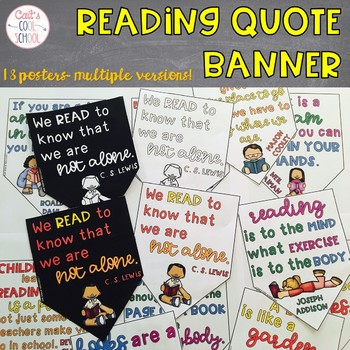 Reading Quotes Banner Style Posters