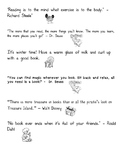 Reading Quotes for Kids with Pictures (Black and White - E