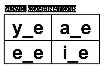 Reading REWARDS - VOWEL COMBINATION flashcards