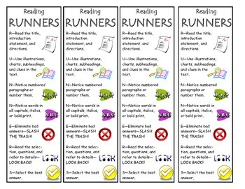 Reading RUNNERS Bookmarks