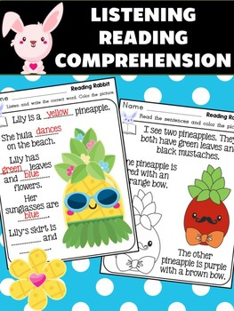 Reading Rabbit : Listening Reading Comprehension, read write color, Pineapples