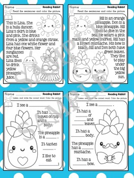 Listening and Reading Comprehension - Pineapples : Reading Rabbit