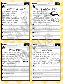 Reading Rabbit : Phonics and Reading Comprehension: CVC Short Vowel A Family