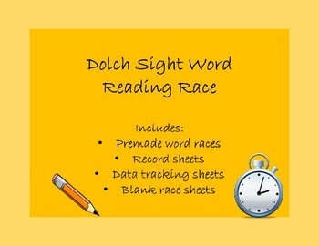 Reading Race Kindergarten