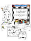 Reading Racers: A Letter & High Frequency Word Assessment