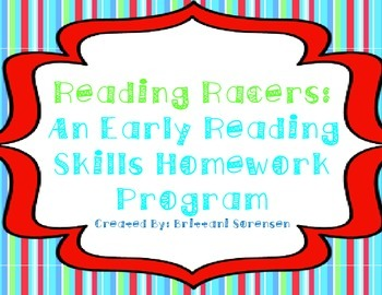 Reading Racers Homework: Letters, Sounds, Sight Words, etc.