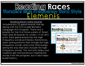 Reading Races-WONDERS High Frequency Word Style