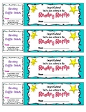 Reading Raffle Tickets - Reading Incentive