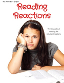 Reading Reactions - Reluctant Readers ELL Literacy Illiter