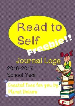 Reading Read to Self Journal Logs 2016-2017 school year