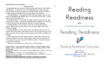 Reading Readiness 4 initial/final sounds
