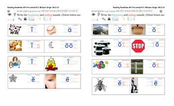 Reading Readiness 5 initial/final letters