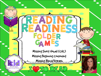 Reading Readiness:  Folder Games