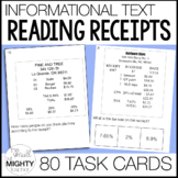 Reading Receipts  Task Cards