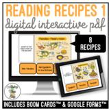 Reading Recipes 1 Digital Interactive Activity