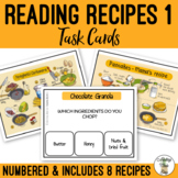 Reading Recipes 1 Visual Task Cards - Life Skills Cooking