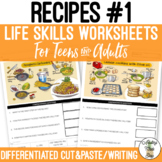 Reading Recipes #1 Worksheets Distance Learning