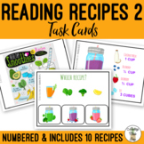 Reading Visual Recipes 2 Task Cards