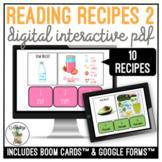 Reading Recipes 2 Digital Interactive Activity