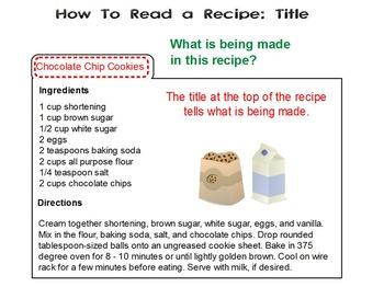 Reading Recipes Christmas Theme 1st-2nd PPT RI.1.1, RI.2.1, W.1.2, W.2.2