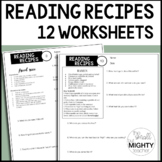 Reading Recipes Worksheets - Digital Learning