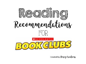 Reading Recommendations for Scholastic Book Orders