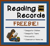 FREE Reading Record