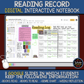 Reading Record: Digital Interactive Notebook for Students' Independent Reading