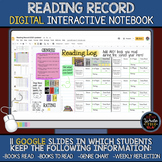 Reading Record: Digital Interactive Notebook for Students'