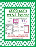 Reading Record, Guided Reading, Homework Tracker, Listening  and More! 10 pages!