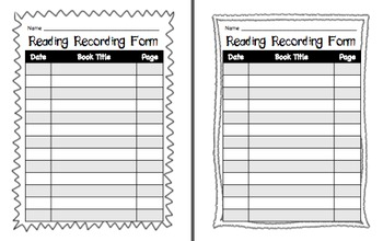 Reading Recording Forms