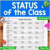 Reading Tracker | Status of the Class Check for Reading or Writing Time