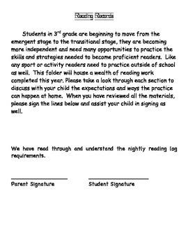 Reading Records Grade 3