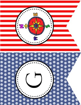 Reading Reef Title Flag Banner (Pirate/Nautical Theme)