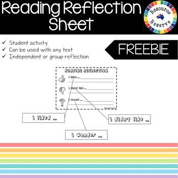 FREE Reading Reflection Activity