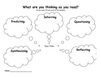 Reading Reflection Graphic Organizer