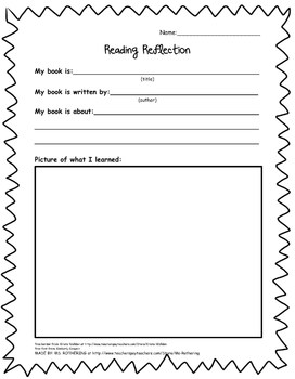 Reading Reflection Handout