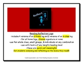 Novel Chapter Logs (Reading Reflection Logs:per chapter/short story/narrative)