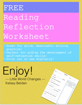 Reading Reflection Worksheet