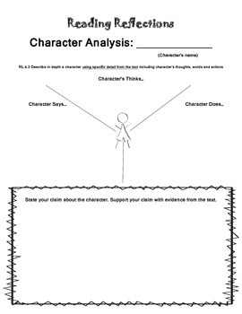 Reading Reflections: Character Analysis